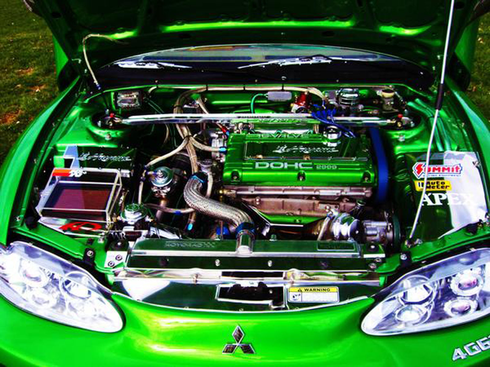 1996 mitsubishi green with envy super show street car eclipse gs t for sale pennsylvania modified car trader
